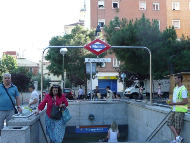 Boca del metro en Prosperidad